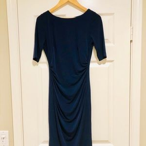Vince Camuto Bodycon Ruched Navy Blue Dress